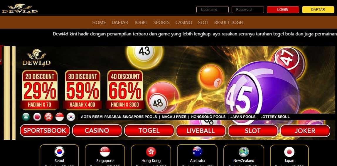 Dewi4d Penyedia Pasaran Togel Online Resmi Terlengkap Di Indonesia